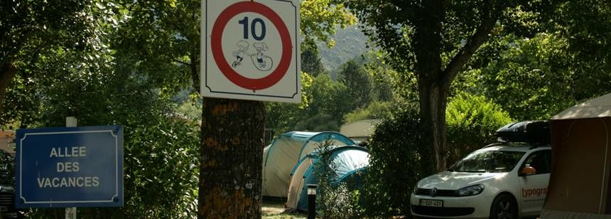 Camping pitches at La Domaine de Verdon, Castellane, France