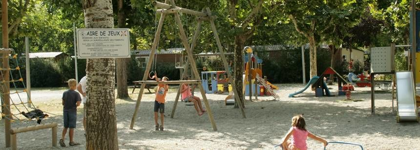 Children's play area at La Domaine de Verdon, Castellane, France