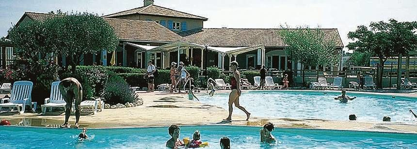 Swimming Pool and Facilities at the L'Ile Des Papes Campsite, France