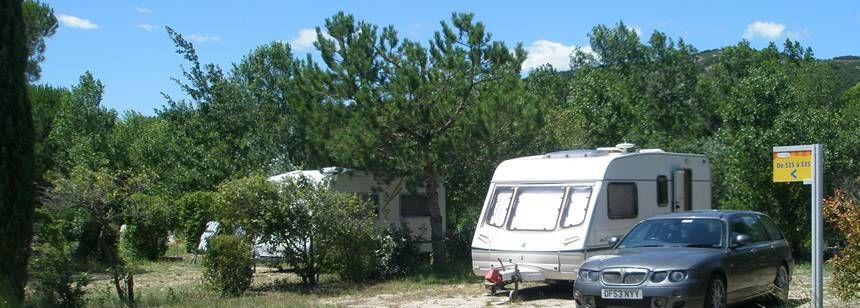 at the L'Ile Des Papes Campsite, France