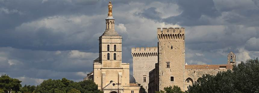 Stunning architecture in Avignon near Camping L'Île des Papes, Provence, France