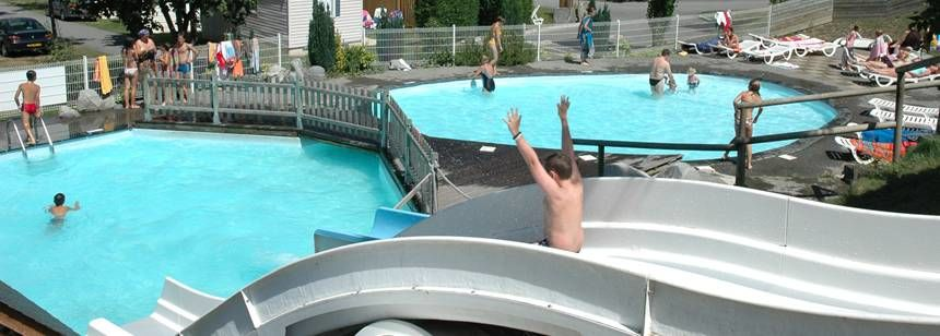 Swimming Pool and Water Slides at Camping Airotel Pyrénées, France