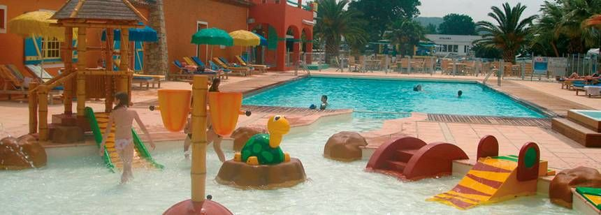 Swimming Pool and Childrens Play Area at the Holiday Marina Campsite, France
