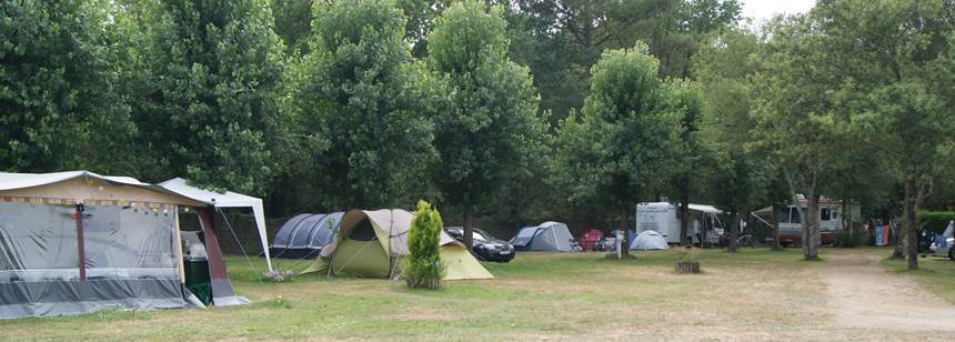 Relaxing at the De Kergo Campsite, France