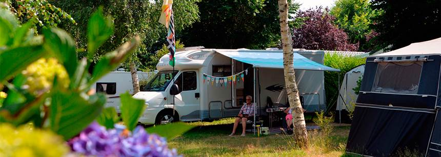 Pitch at Camping Mané Guernehué, Britanny, France