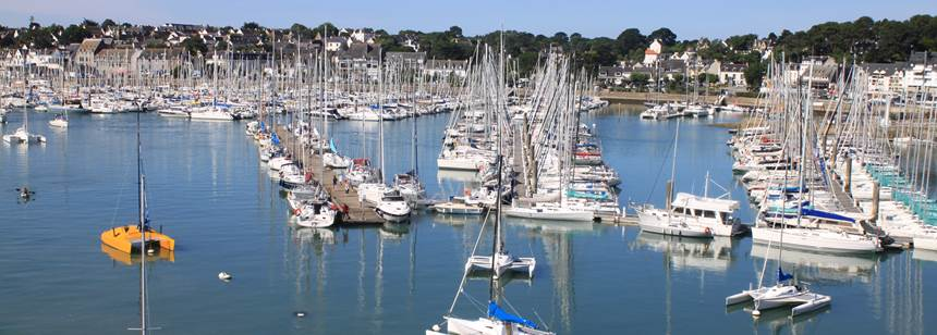 The marina, near Camping la Plage, la Trinité, South Brittany, France