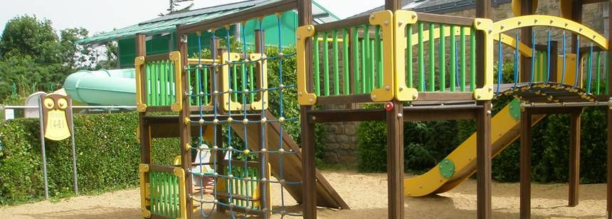 Childrens Play Area at the Camping De La Plage Campsite, France