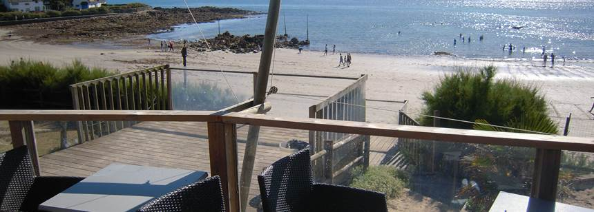 Direct access to sandy beach near Camping de la Plage, Brittany, France