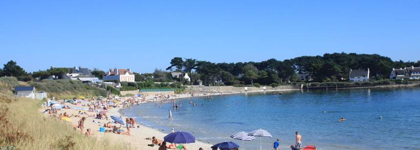 Swimming pool at Camping de la Plage, Brittany, France