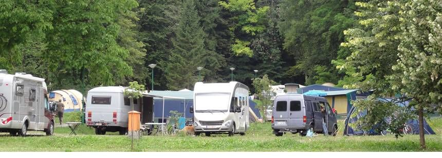 Grass Pitches With Scenic Views at the Bled Campsite, Slovenia