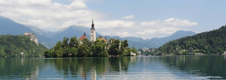 The beautiful scenery at Lake Bled, Slovenia