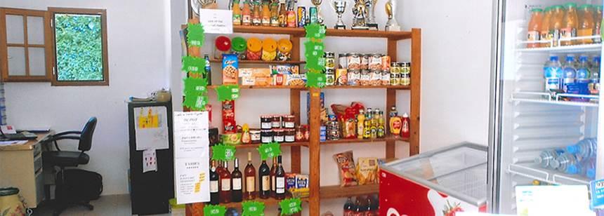 Basic provisions at Camping Le Valerick, St Sornin, France