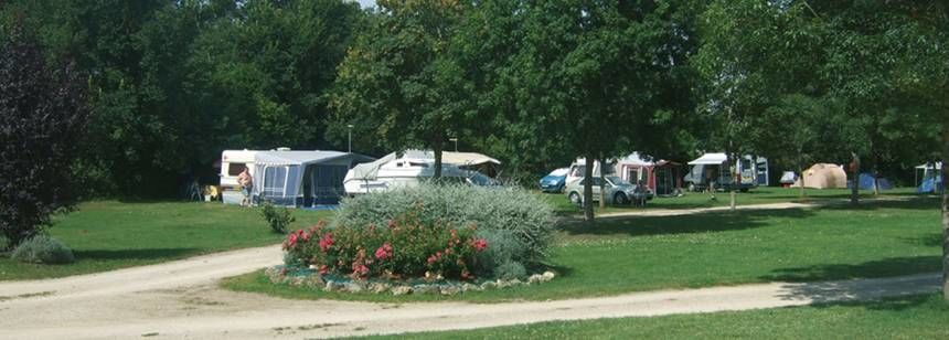Shaded Grass Pitches at the Le Valerick Campsite, France