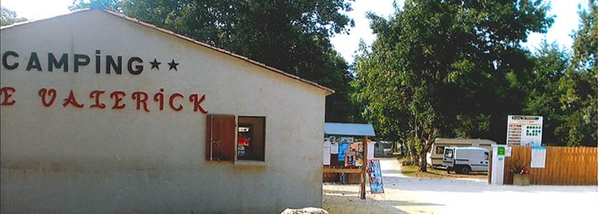 Campsite entrance at Camping Le Valerick, St Sornin, France
