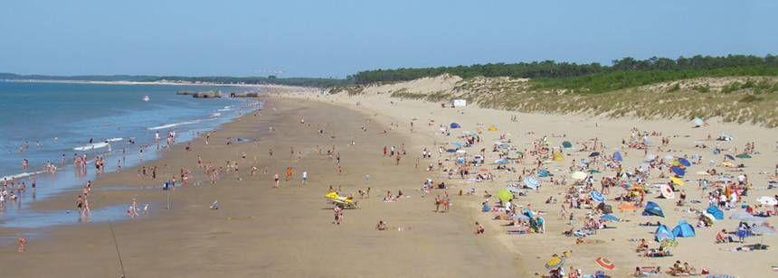 A lovely beach just short walk from Camping Côte de Beauté, St. Palais-Sur-Mer