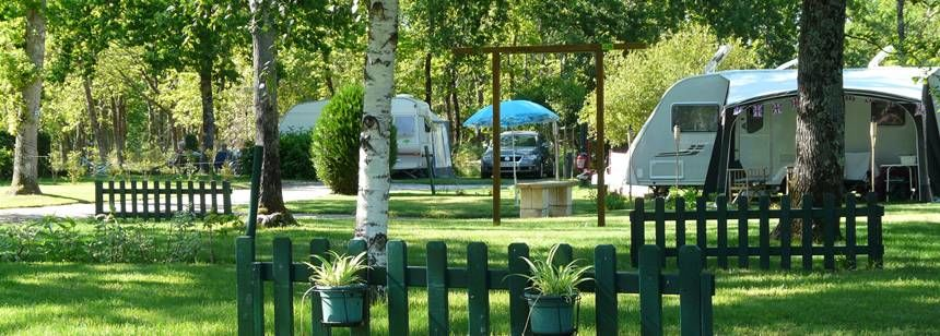 Shaded Grass Pitches at the La Cigale Campsite, France