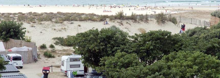 Beach and Airotel Saint Martin Campsite, France