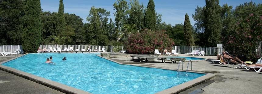 Swimming Pool at the Lou P'Tit Poun Campsite, France
