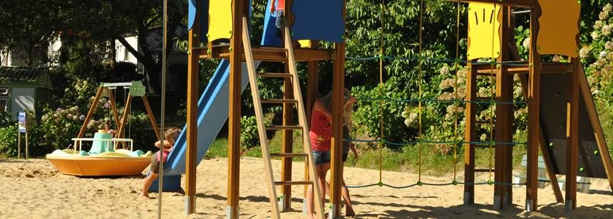 Childrens Play Area at the Ilbarritz Campsite, France