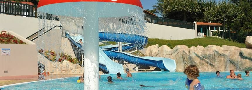 Swimming Pool Childrens Play Area at the Ilbarritz Campsite, France