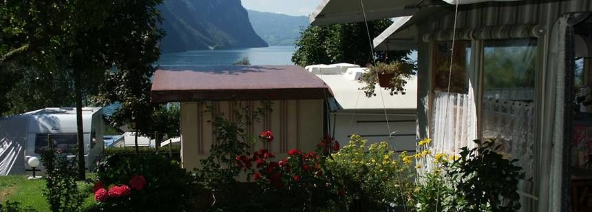 Facilities and Scenic Views at the Vitznau Campsite, Switzerl and