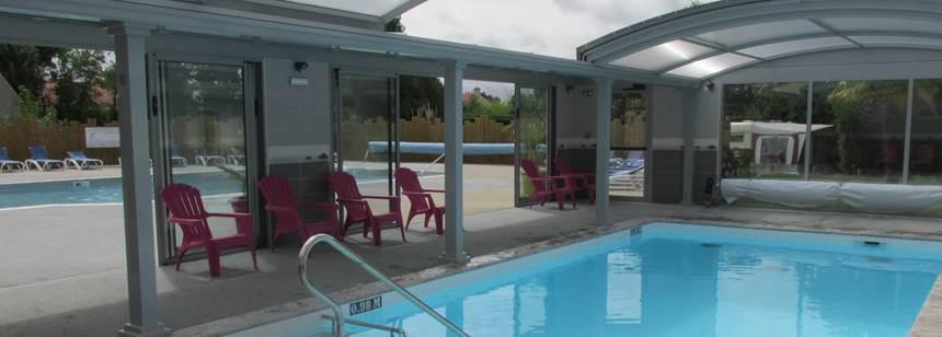Pools at Camping Le Bois Joli, Vendée, France