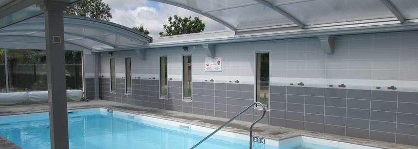 Indoor pool at Camping Le Bois Joli, Vendée, France