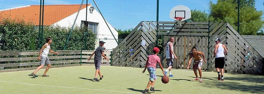 Childrens Play Area at the Les Amiaux Campsite, France