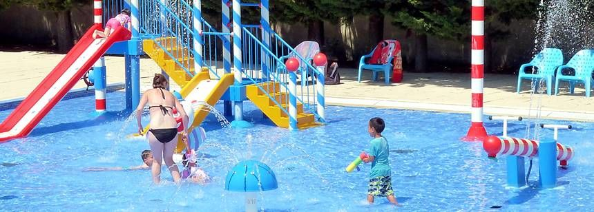Swimming Pool and Water Sports Activities at the Les Amiaux Campsite, France