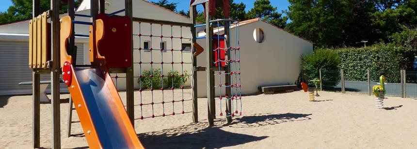 Play area at Camping Les Amiaux, St. Jean-de-Monts, Vendée, France