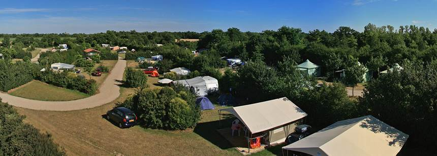 Spacious pitches at Camping La Bretonnière, Vendée, France