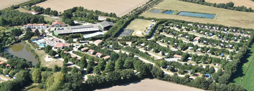 Aerial view of Camping La Bretonnière, Vendée, France