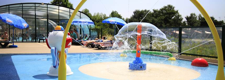 Water games at Camping La Bretonnière, Vendée, France