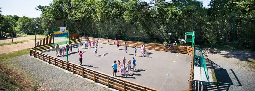 Childrens Activities at the Le Pin Parasol Campsite, France