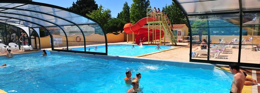 Swimming Pool at the La Trévillière Campsite, France