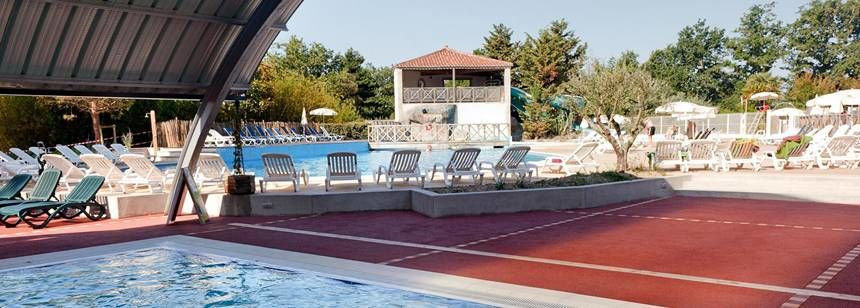 Swimming Pool and Water Sports Activities at the La Garangeoire Campsite, France