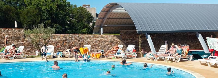 Swimming Pool and Facilities at the La Garangeoire Campsite, France