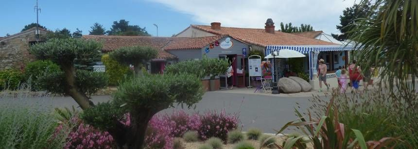 The reception area at Camping La Loubine, Olonne-sur-Mer, Vendée, France