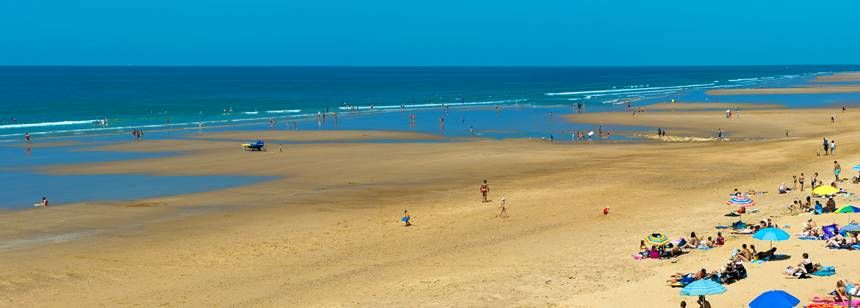 A beach near to Camping La Loubine, Olonne-sur-Mer, Vendéee, France