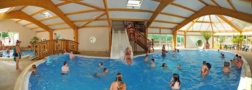 The lovely indoor pool at Camping La Loubine, Olonne-sur-Mer, Vendée, France