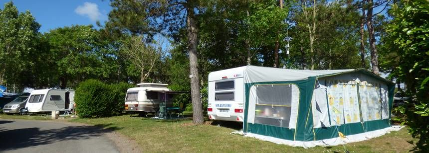 Pitches at Camping La Loubine, Olonne-sur-Mer, Vendée, France
