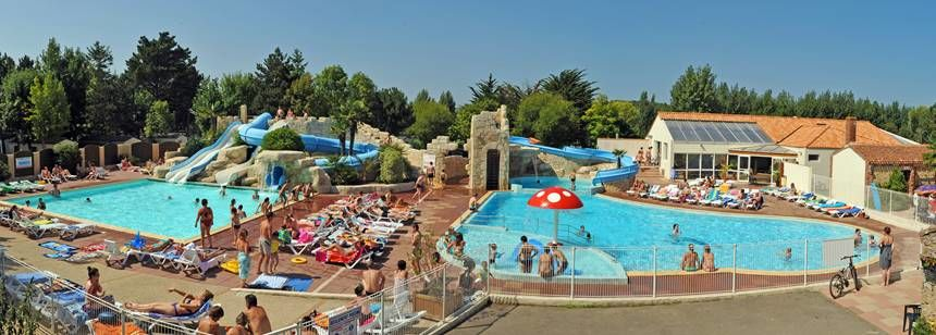 The fabulous pool complex at Camping La Loubine, Olonne-sur-Mer, Vendée, France