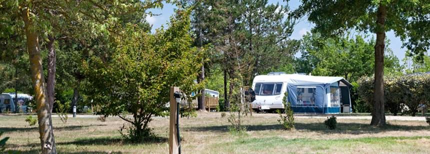 Grass Pitches at the Domaine Des Forges Campsite, France
