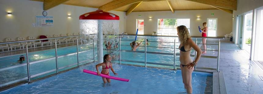Indoor Swimming Pool at the Domaine Des Forges Campsite, France