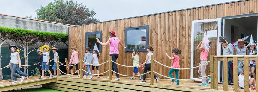 Kids Club activity at Camping le Chaponnet, Vendée, France