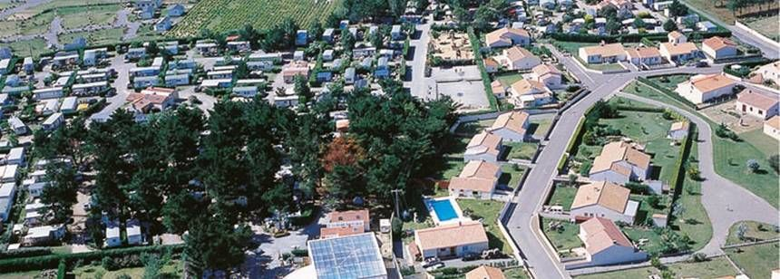 Arial Views of the Le Chaponnet Campsite, France