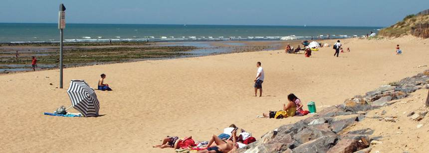 The beach, near Camping Bel, la Tranche-sur-Mer, Vendée, France