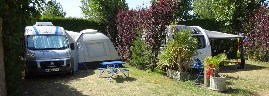 Typical pitches Camping Bel, La Tranche-sur-Mer, France