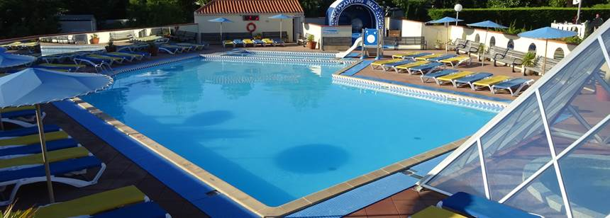 Swimming pool at Camping Bel in La Tranche-sur-Mer, Vendée, France