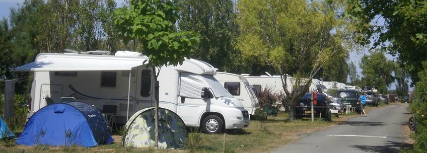 Shaded Grass Pitches at the at the Le Jard Campsite, France